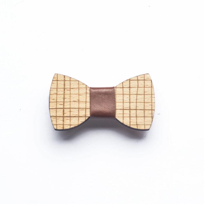 barette noeud papillon bois massif hêtre accessoire cheveux decocot