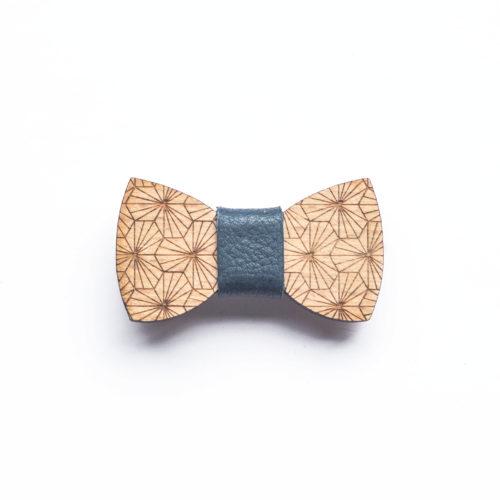 barrette noeud papillon bois accessoire cheveux decocot