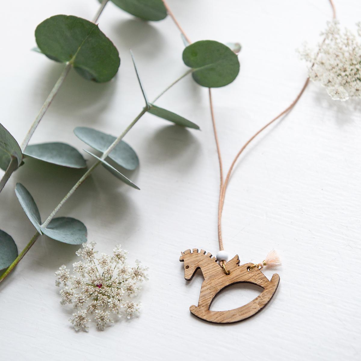 collier papille bois cheval decocot