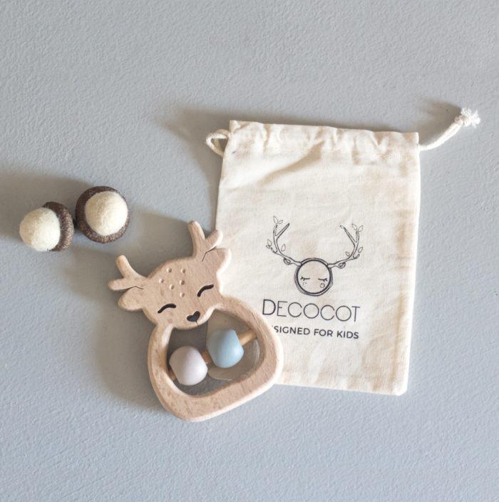 hochet éveil bébé en bois design france decocot