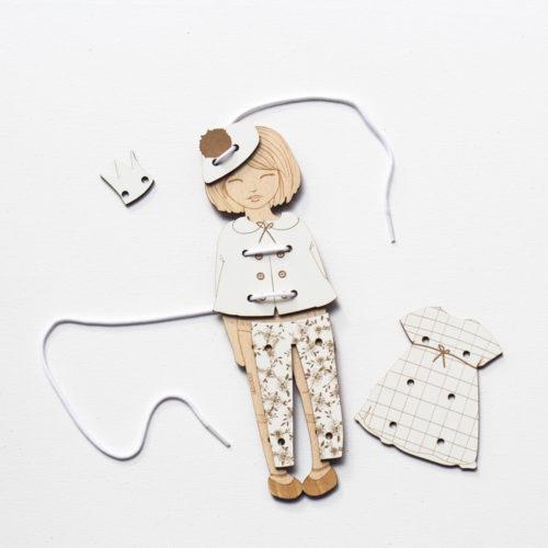 jeu en bois de réflexion et lacage montessori par decocot