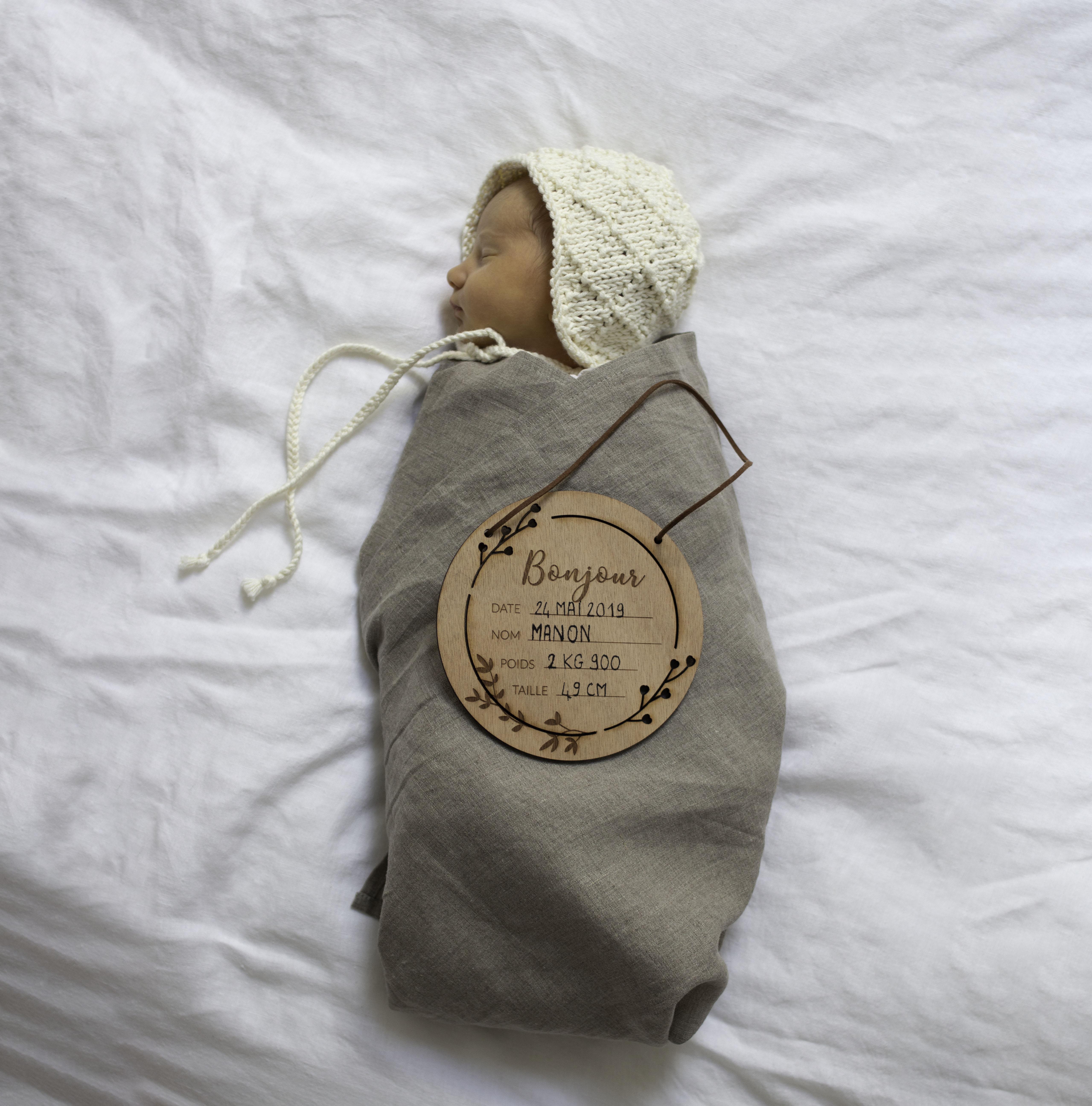 plaque naissance annonce decocot