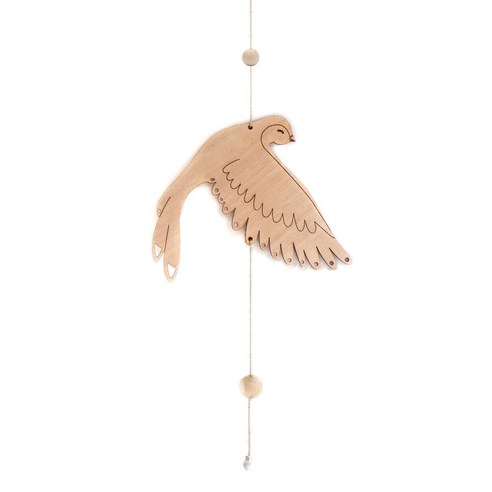 mobile décoratif en bois oiseau pour bebe