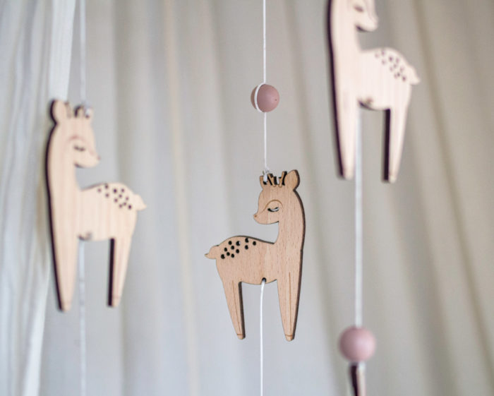 baby mobile woodland fawn decocot