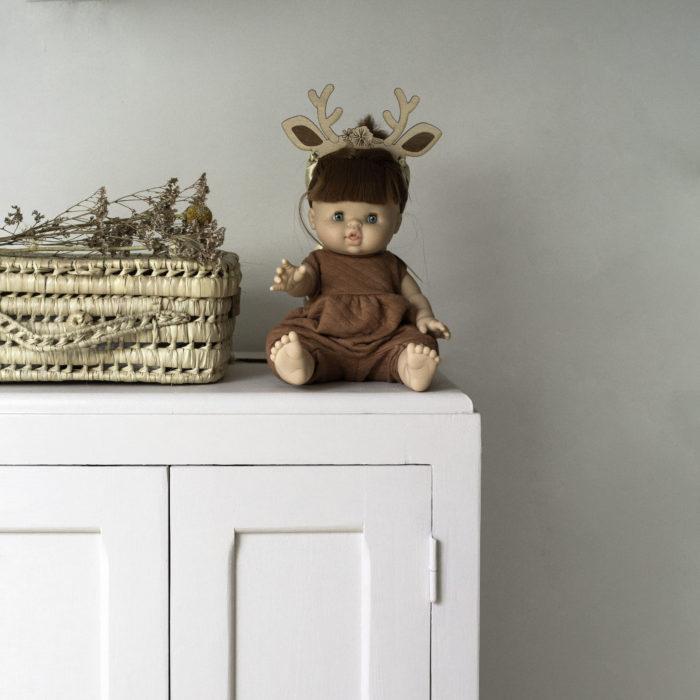 couronne en bois pour poupée paola reina accessoire original