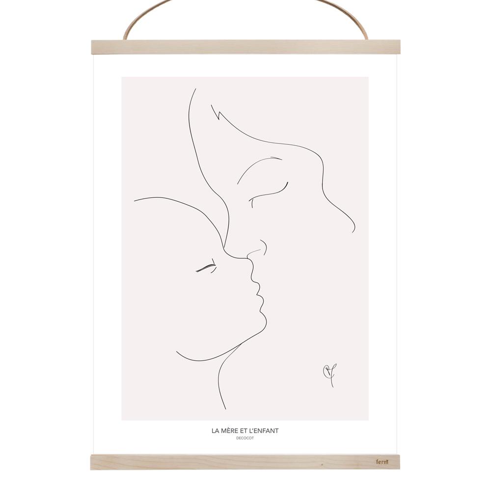 affiche maternité motherhood cadeau naissance chambre enfant