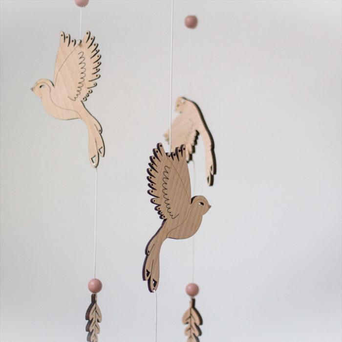 mobile oiseau envolée decocot decoration chambre enfant