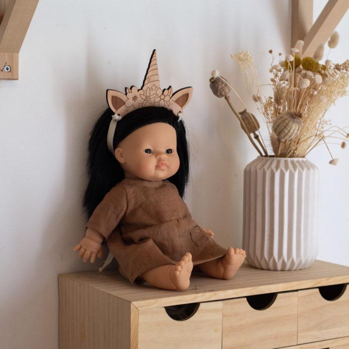 accessoire poupee couronne en bois decocot