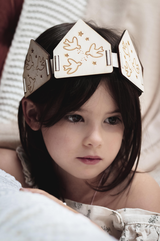 couronne de princesse en bois decocot jeu déguisement