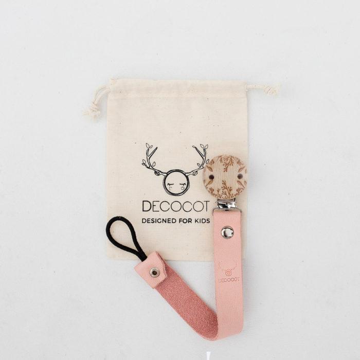 attache tetine cuir bio decocot cadeau de naissance