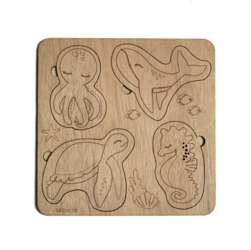 puzzle bébé océan animaux marins decocot