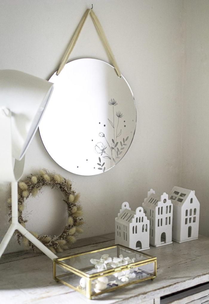 miroir rond design intérieur decocot