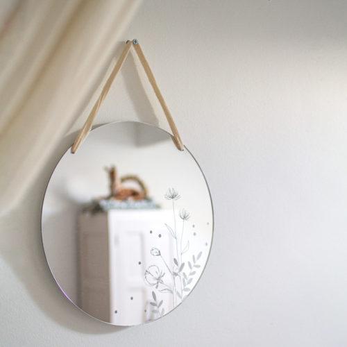 miroir floral gravé decoration intérieure design decocot