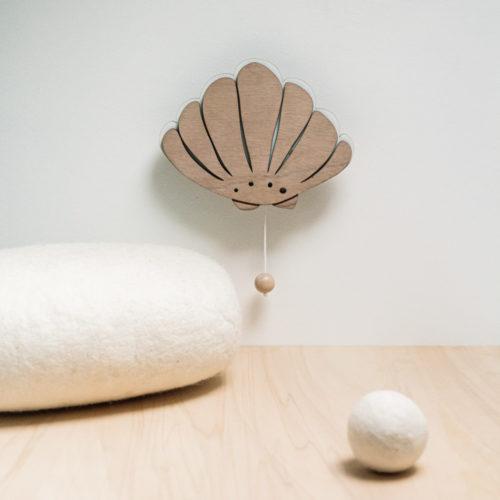 Coquillage musical en bois decocot pour chambre bébé
