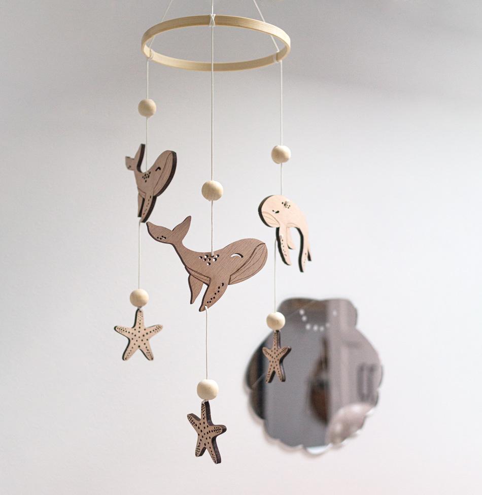 mobile baleines bébé décoration marine chambre enfant