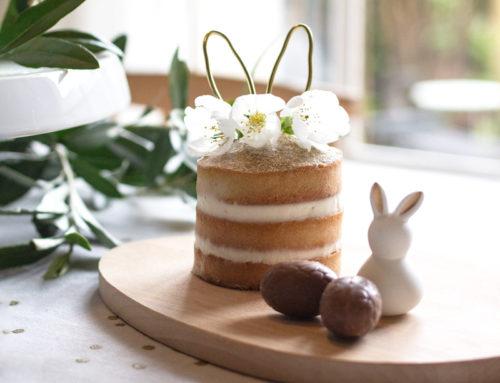 Un mini naked-cake lapin de Pâques